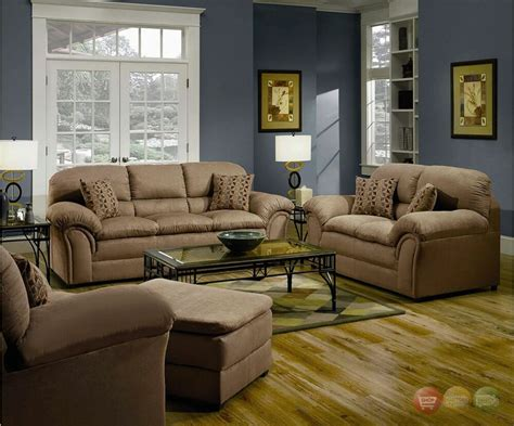 Loveseat Set by Chickasaw Casual Soft Microfiber Sofa Seat