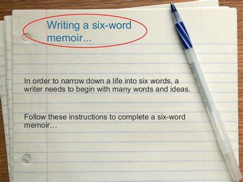 word memoir assignment