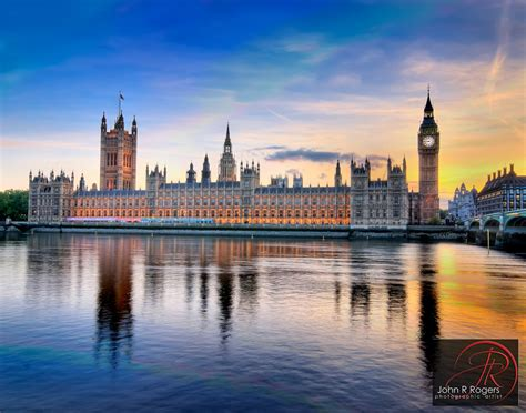 British House of Commons across the Thames   One beautiful ...
