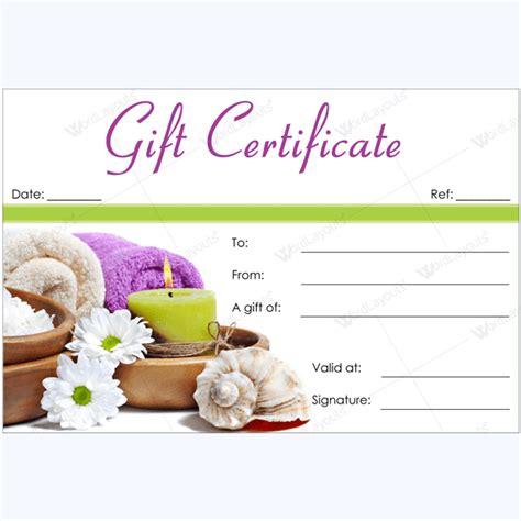 spa gift certificate designs    season