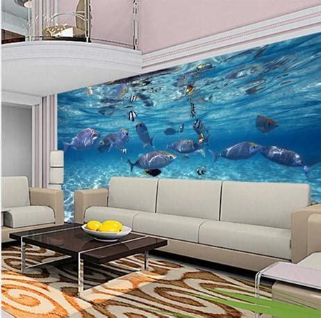 custom mural wallpaper aquarium  photo wallpaper