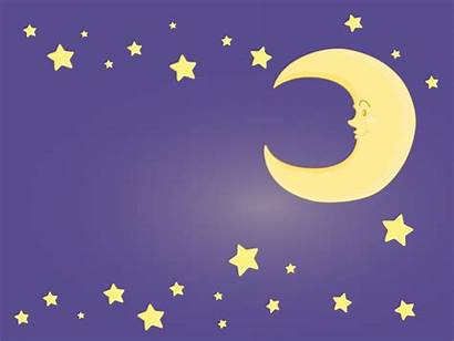 Moon Stars Clipart Clip Purple Powerpoint Backgrounds