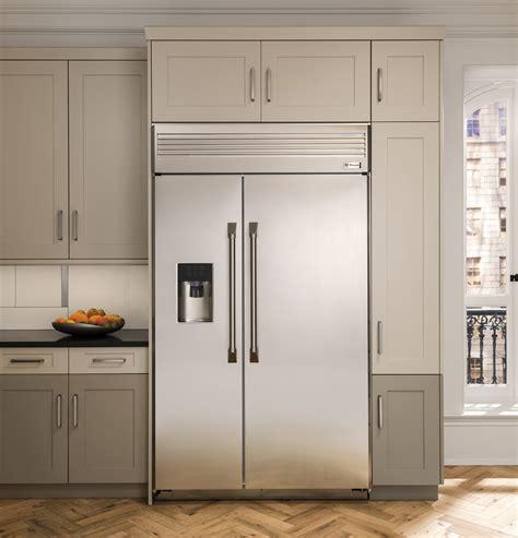 zispdhss monogram  built  professional side  side refrigerator  dispenser