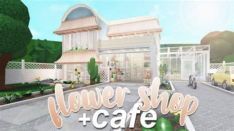 Another full pink cafe build again! ROBLOX | Bloxburg: Flower Shop & Cafe 180k - YouTube