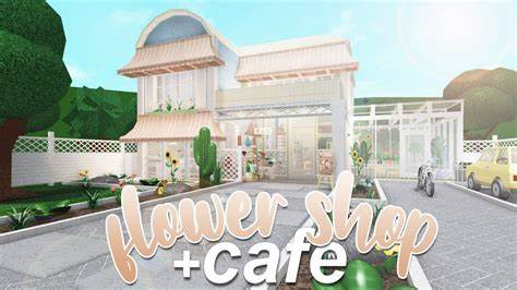 Another full pink cafe build again! ROBLOX   Bloxburg: Flower Shop & Cafe 180k - YouTube