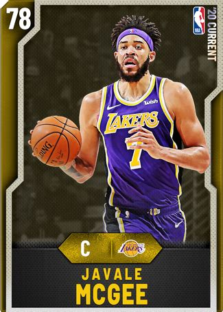 javale mcgee  nba  myteam gold card kmtcentral
