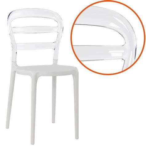 chaise medaillon transparente chaise design 39 baro 39 blanche et transparente en matière
