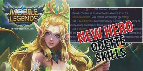 hero odette skills  price mobile legends blog