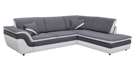 canap 233 d angle droit convertible quinn gris blanc canap 233 but iziva