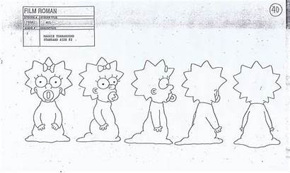 Simpsons Character Sheet Maggie Gracie Films Concept