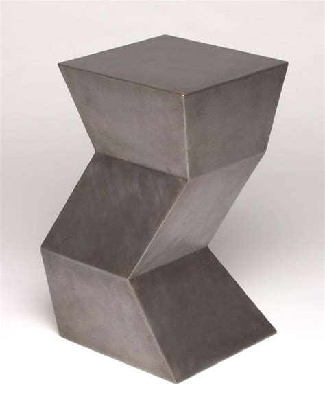 zig zag end table hand crafted zig zag side table by eric david laxman