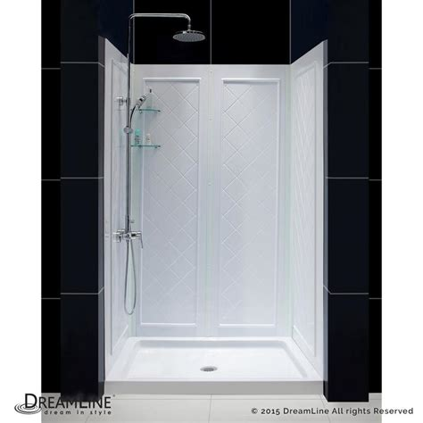 Shower Walls And Base by Dreamline Qwall 5 White 2 Alcove Shower Kit Common