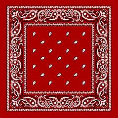 Red Paisley Bandanas - Dozen Packed 22x22 : Bandanas : By the Dozen ...