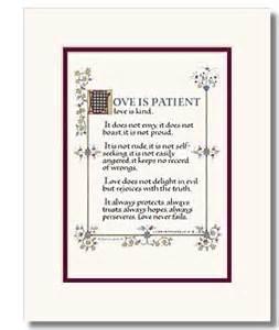 Love Is Patient Verse King James Bible