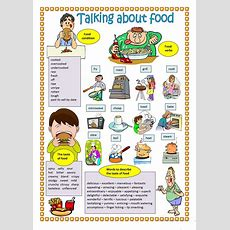 Talking About Food Worksheet  Free Esl Printable Worksheets Made By Teachers