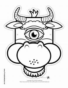 printable cyclops minotaur mask to color mask With cyclops mask template