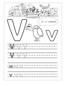 Letter V Writing Practice Worksheet