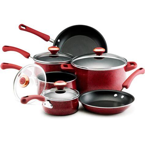 cookware paula deen enamel pans walmart pots dean tips 10pc porcelain