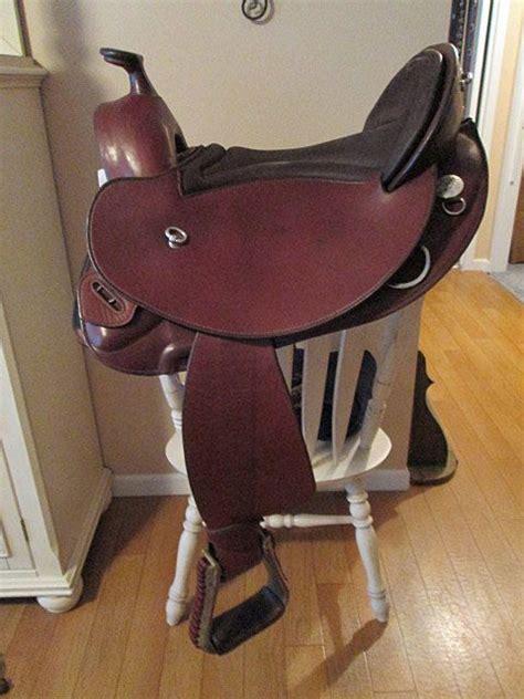 western saddle horse saddles treeless seat short backed german skirt tack horses leather barefoot cowgirls pad florida shorty shipping deutsch