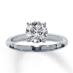 Diamond Solitaire Ring 1-1/2 Carat Round-cut 14K White Gold Jared