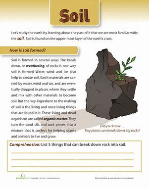 how is soil formed worksheet education