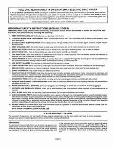 Craftsman 900684253 User Manual Electric Brad Nailer