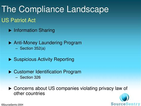 patriot act section 326 ppt offshore outsourcing dealing with compliance