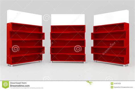 Mensole Rosse Mensole Rosse Illustrazione Di Stock Illustrazione Di