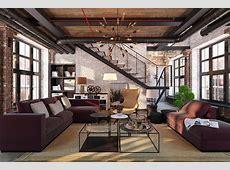 Industrial living room design ideas ARCHIVIZER com