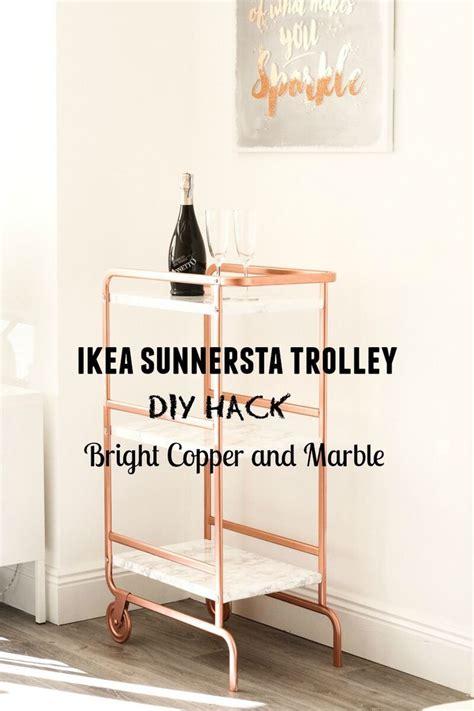 ikea sunnersta bar cart hack   corner