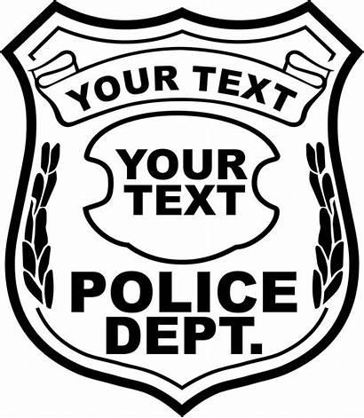 Badge Police Cliparts Clip Vector Clipart