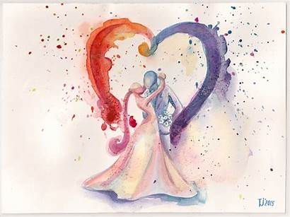 Watercolor Painting Paintings Spouses