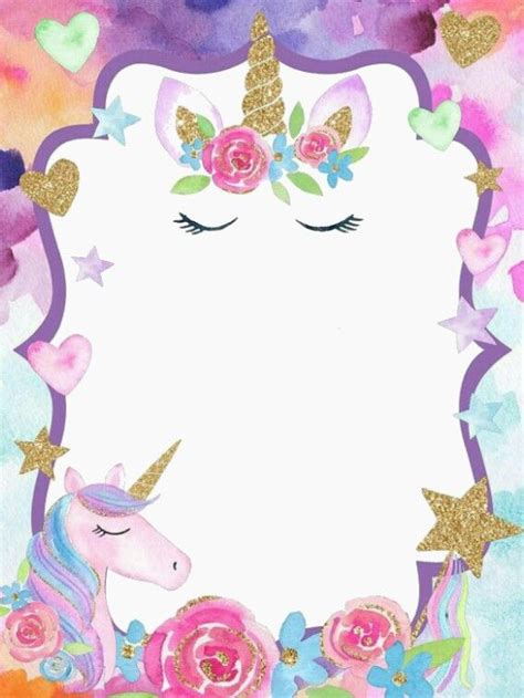 ricmary samantha ideas de fiesta unicornio invitacion