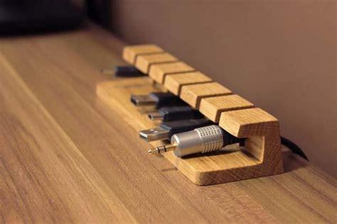 cord holder for desk the handmade wooden desk cable organizer gadgetsin