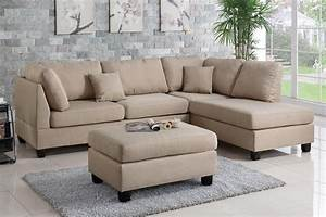 Brown fabric sectional sofa and ottoman steal a sofa for Amazon ca sectional sofa