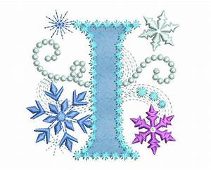 Ice Princess Applique Letter I Frozen Cloth Decor Applique