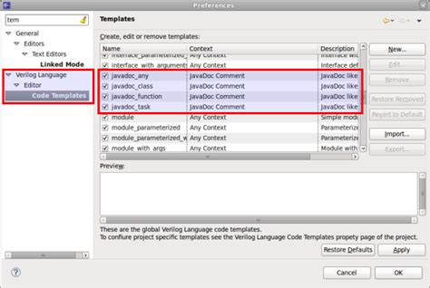 eclipse modify templates 27 2 1 javadoc