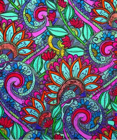 Paisley Colorful Background Domain