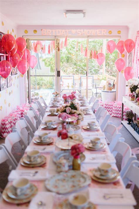 glittering pink high tea shower  sydney australia