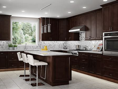 white and espresso kitchen cabinets shaker espresso ready to assemble kitchen cabinets rta 1735