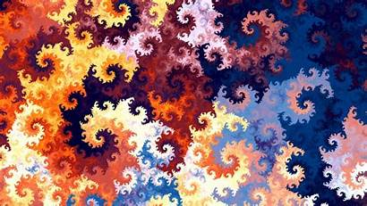 Colorful Pattern Patterns Spirals Twisted Widescreen