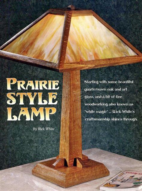 prairie style lamp plans woodworking edge