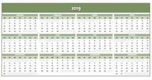 Jahreskalender 2019 A4 : jahreskalender 2019 als excelvorlage und pdf kostenlos ~ Kayakingforconservation.com Haus und Dekorationen