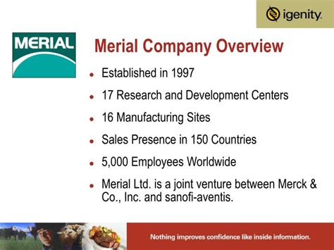 PPT - Merial Company Overview PowerPoint Presentation ...