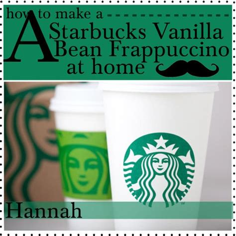 Tips from starbucks coffee's masters. Starbucks Vanilla Bean Frappuccino with No Coffee. | Starbucks vanilla, Frappuccino, Starbucks