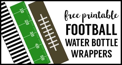 football water bottle labels  printable paper trail