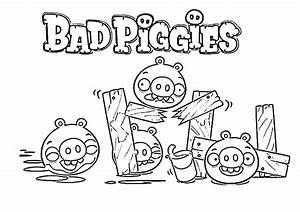 Angry Bird Pigs is Bad Piggies Coloring Pages | Bulk Color