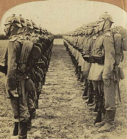 Boxer Rebellion German Soldiers Attention Standing China