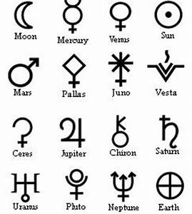 Here are some planetary glyphs. | About Astrology ...