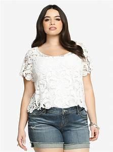 Plus Size Crochet Lace Crop Top   Plus Size Fashion ...